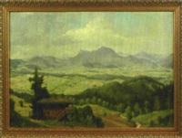 blick auf das bayerische voralpenland by willy reinhardt