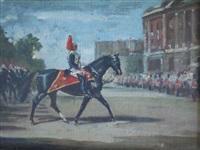a mounted officer of the blues and royals by raoul millais