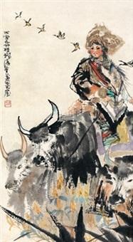 牧归图 (back from herding) by cheng shifa