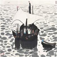 fishing boats by the sea by wu guanzhong