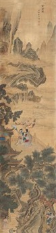 金谷园图 (character and landscape) by xu yuan