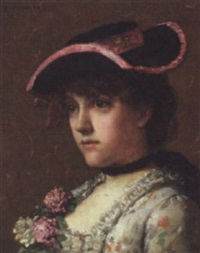 head and shoulder study of a young woman by percival de luce