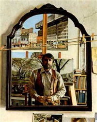 mirror image (self-portrait) by frank wright
