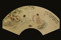chinese figures painting by huang shanshou