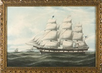 """the american ship """"james nesmith"""" (+ ship's log book & papers) by duncan mcfarlane"""
