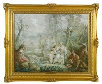 pilgrimage on the isle cythera by jean antoine watteau