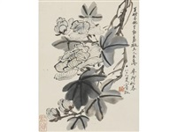 flowers by huang binhong
