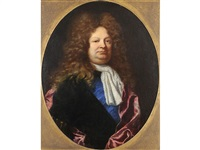 portrait of a gentleman, identified as charles gaspard dodun, mmarquis d'herbault (1679-1736), french statesman and minister of finance by joseph vivien