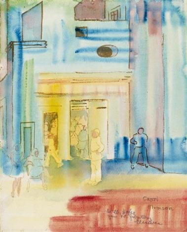 marktplatz auf capri by heinrich ehmsen