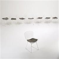 set of eight diamond sidechairs by harry bertoia