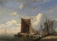 fischer in holländischer küstenlandschaft by bartol wilhelm van laar