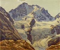 berninagruppe von der fuorcla surlej by josef haas-triverio