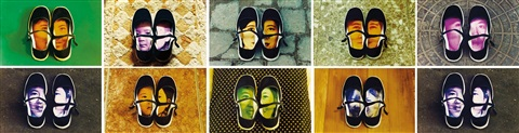 shoes set of 10 by yin xiuzhen