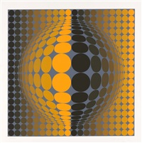 op-art komposition by victor vasarely