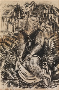 baigneuse by raoul dufy