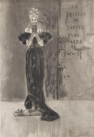 le vol et la prostitution dominent le monde; le diable dupé par les femmes; suffisance (3 works) by félicien joseph victor rops