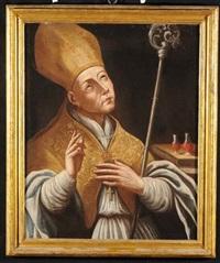 vescovo in preghiera by fabrizio santafede