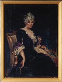 portrait of miss nellie o. pevear (sketch) by james carroll beckwith