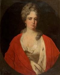 porträt einer adeligen in historischem kostüm by károly jacobey