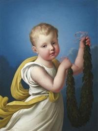 porträt der luise prinzessin zu anhalt-dessau als kind by heinrich beck