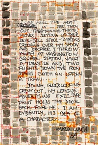 ohne titel (i can feel the heat) by brion gysin