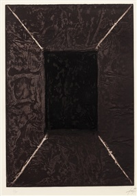 la porte (sold with 168b; set of 2) by antoni tàpies