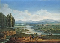 flusslandschaft mit anglern by jan-peter van bredael the younger