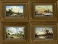 landschaften im spiegel der vier jahreszeiten (set of 4) by ludwig frey