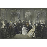 benjamin franklin at the court of france, 1778 (after andre-edouard baron jolly) by william overend geller