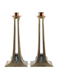 secessionist candlesticks (pair) by albinmüller