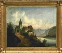 schloss am gebirgssee by friedrich wilhelm jankowski