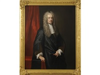 portrait of sir john clerk of penicuik, 2nd bt. (1676-1755) by william aikman