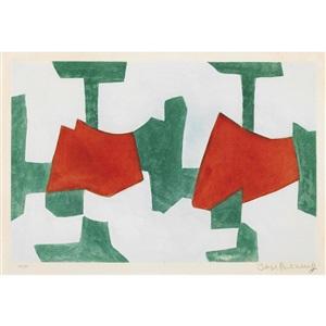 komposition in blau grün und rot by serge poliakoff