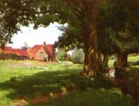ländliches idyll mit bauernhof by carl jutz the younger