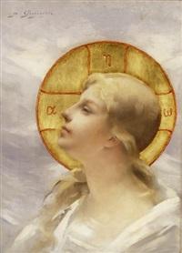 kopf einer heiligen by paul françois quinsac