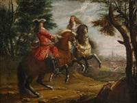 louis xiv och turenne vid staden mons by sauveur le conte