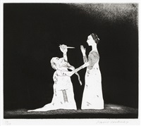 old rinkrank threatens the princess, 30(sold with 190b; set of 2) by david hockney
