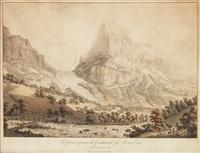 le glacier inferieur du grindelwald et le mont eiger by gabriel ludwig lory
