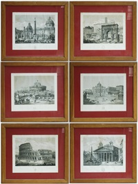 monumenti romani (6 works) by domenico amici