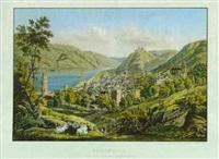 oberwesel und die ruine schönberg by conrad caspar rordorf