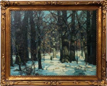 sunlit forest by john fabian carlson