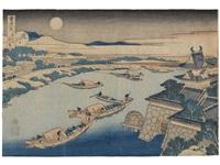 yodogawa (from setsugekka) by katsushika hokusai