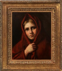 portrait of a young girl by nikolai y. rachkov