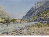a river in the alps by julien gustave gagliardini