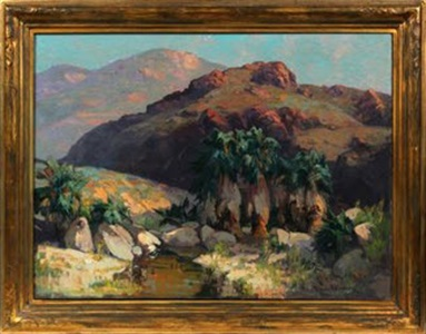 palm spring canyon by franz arthur bischoff
