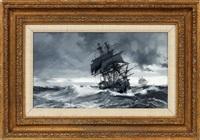 choppy seas by montague dawson
