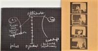 schiefertafel mit beidseitig serigraphien by joseph beuys