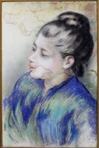 bust of a woman by pierre-auguste renoir