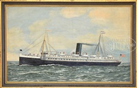 portrait of the steamship apache by antonio jacobsen
