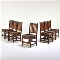 side chairs (set of 7) by gustav stickley